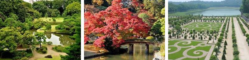 Japanese Rikugien Gardens